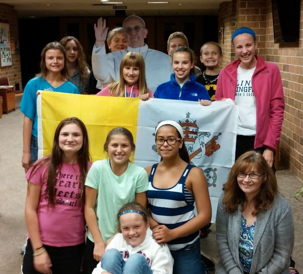 Pope Visit Faith Formation Class