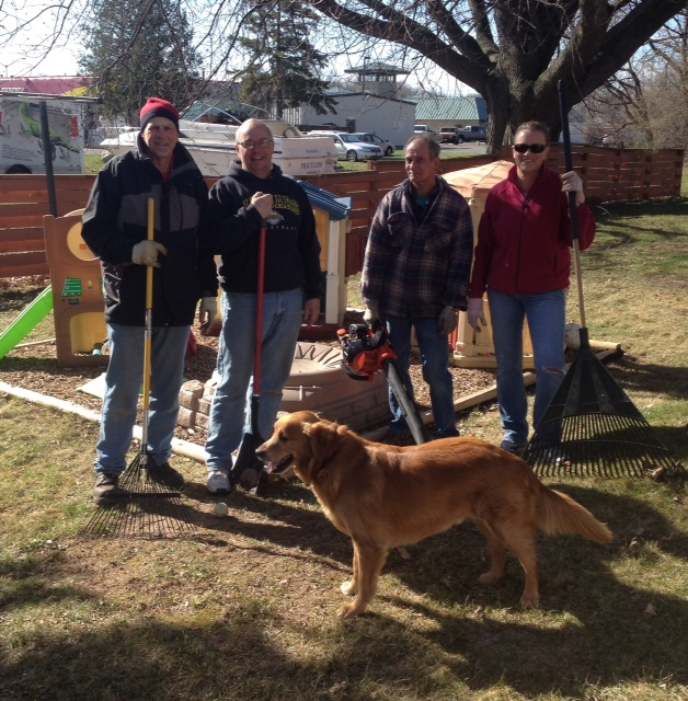 Spring Cleanup at Sponsored House 2015