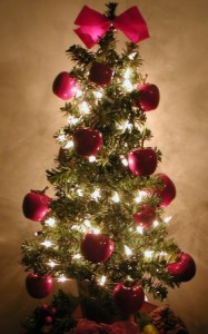 Christmas Tree with Apples