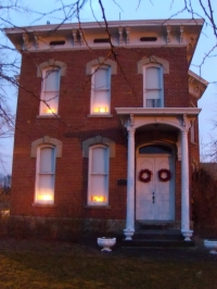 House with Candle in Window