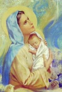 Mary and baby Jesus